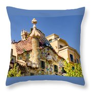 Gaudi Apartment Throw Pillow