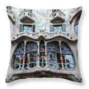 Gaudi Architecture 3 Barcelona Spain Throw Pillow