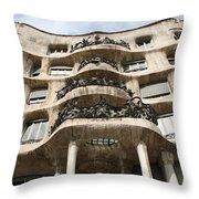 Gaudi Architecture Barcelona Spain Throw Pillow