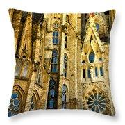 Gaudi - Sagrada Familia Throw Pillow