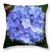 Gauzy Blues Throw Pillow