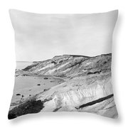 Gay Head Cliffs, C1903 Throw Pillow