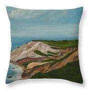 Gay Head Cliffs Throw Pillow