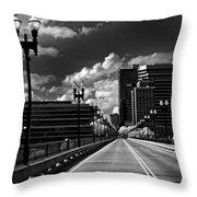 Gay Street Bridge - Knoxville Throw Pillow