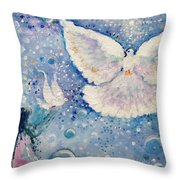 Gaze Is Clear Throw Pillow