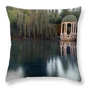 Gazebo And Lake Throw Pillow