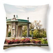 Gazebo At Forest Park St Louis Mo Throw Pillow