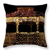 Gazebo Christmas Throw Pillow