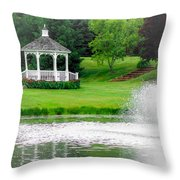 Gazebo Gardens IIi Throw Pillow
