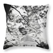 Gazebo In Monochrome Throw Pillow