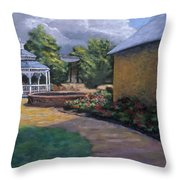 Gazebo In Potter Nebraska Throw Pillow