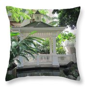 Gazebo Of The Tropics Throw Pillow
