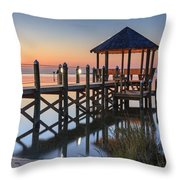 Gently - Gazebo On The Sound Outer Banks North Carolina Throw Pillow