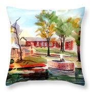 Gazebo Pond And Duck II Throw Pillow