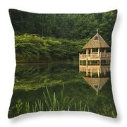 Gazebo Reflections Throw Pillow