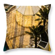 Gazebo Shadow Lines Throw Pillow