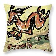 Gazelle Throw Pillow