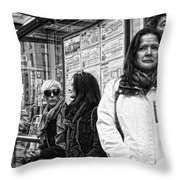 Gazes And Looks Throw Pillow