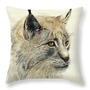 Gazing Lynx Throw Pillow