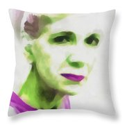 Gazing Through Glass Throw Pillow