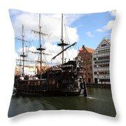 Gdynia Pirate Ship - Gdansk Throw Pillow