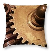 Gear Wheels Throw Pillow