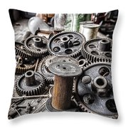 Geared Out Throw Pillow