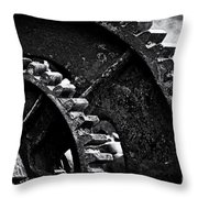 Geared Up Throw Pillow