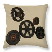 Gears And Pulleys Throw Pillow