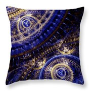 Gears Of Time Throw Pillow