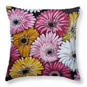 Gebera Daisies Throw Pillow
