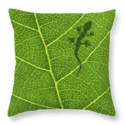 Gecko Throw Pillow by Aged Pixel