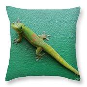 Gecko Crossing Throw Pillow