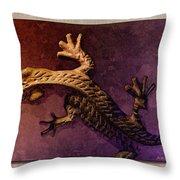 Gecko Dance 2 Throw Pillow
