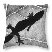 Gecko Shadow Throw Pillow