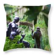 Goddess Of The Woods Throw Pillow