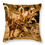 Gee Haw Throw Pillow