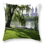 Geese In Central Park Nyc Throw Pillow