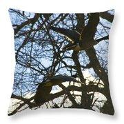 Geese In Twlight Sky Throw Pillow