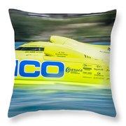 Geico Off Shore Racing Throw Pillow