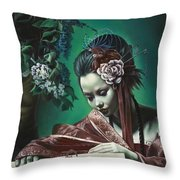 Geisha Has No Right To Love Throw Pillow