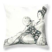 Geisha Iv Throw Pillow