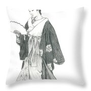 Geisha Vi Throw Pillow