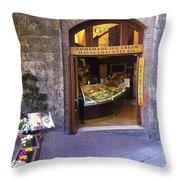 Gelateria Siena Throw Pillow