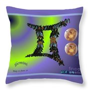 Gemini By Alice Terrill And William Baumol Throw Pillow