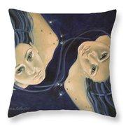 Gemini From Zodiac Series Throw Pillow