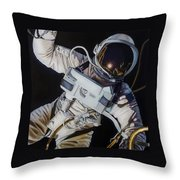 Gemini Iv- Ed White Throw Pillow