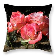 Gemini Tea Rose Throw Pillow