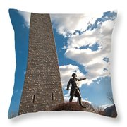 Gen. John Stark At The Bennington Battle Monument Throw Pillow