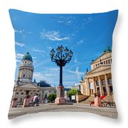 Gendarmenmarkt In Berlin Germany Throw Pillow